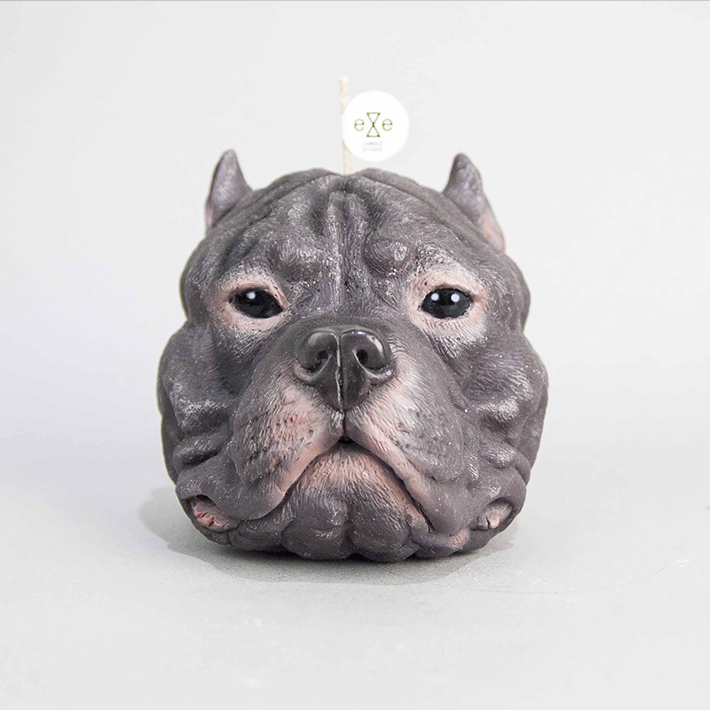 Staffordshire Bull Terrier candle - Purple