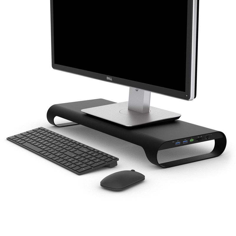 ProBASE X Aluminum Monitor Stand With Fast Charger - twowgo