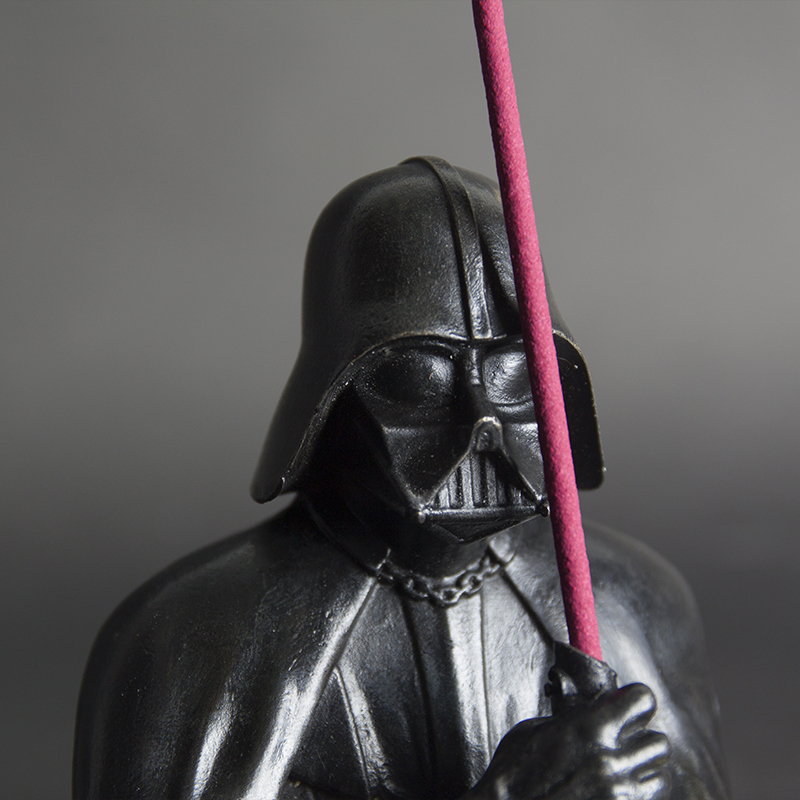 Darth Vader Bust Brass Incense Holder Set