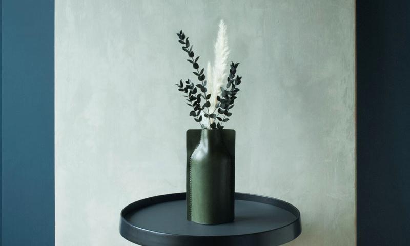 SHAPING   Leather Cruet Vase
