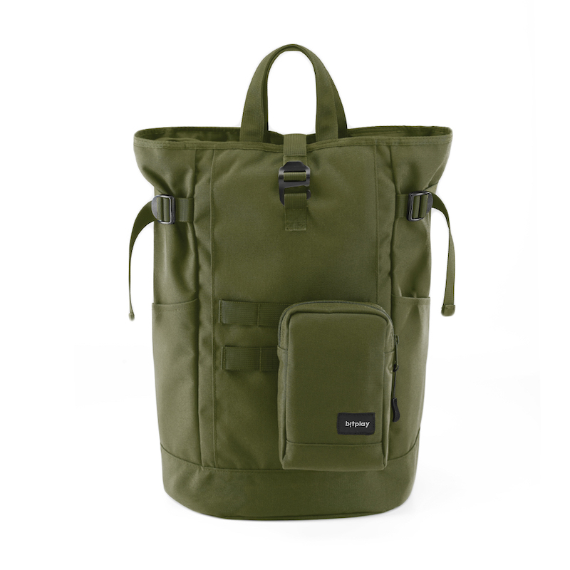 DAYPACK SERIES - Backpack + Shoulder pouch (Green)